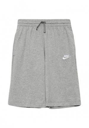 Шорты спортивные Nike. Цвет: серый