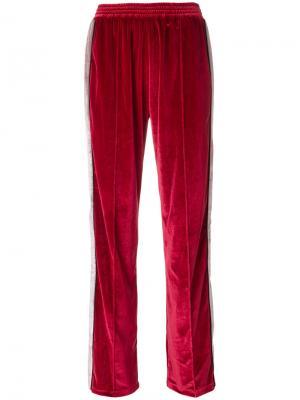 Брюки с контрастной полоской Forte Couture. Цвет: красный