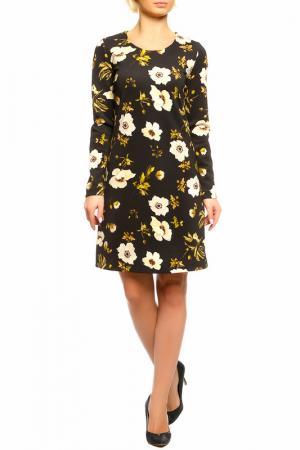 Платье SEVENTY. Цвет: черно-бежевый