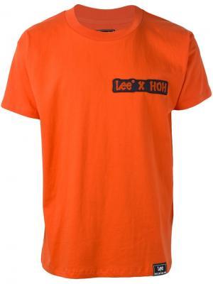 Футболка HoH x Lee Collaboration House Of Holland. Цвет: жёлтый и оранжевый