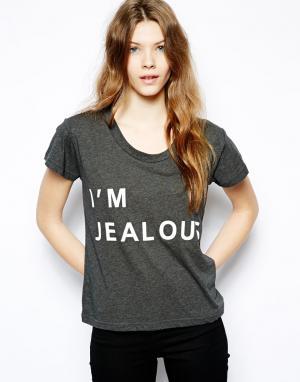 Классическая футболка  Im Jealous Sauce. Цвет: серый