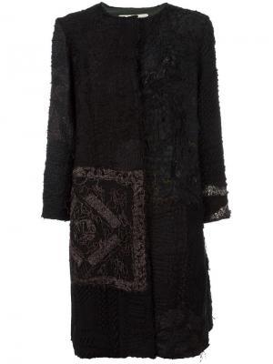 Пальто с необработанными деталями By Walid. Цвет: чёрный
