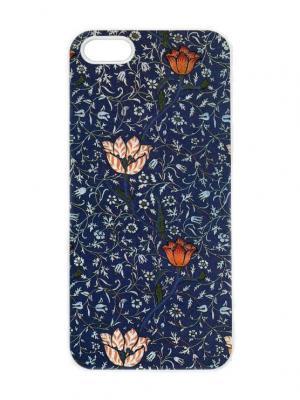 Чехол для iPhone 5/5s Тюльпаны на синем Chocopony. Цвет: темно-серый, голубой, оранжевый, розовый