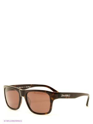 Солнцезащитные очки Salvatore Ferragamo. Цвет: темно-коричневый