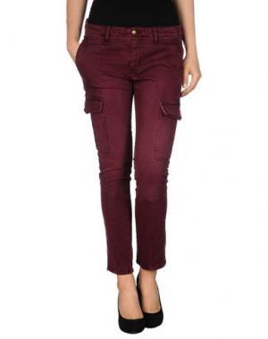 Повседневные брюки MONOCROM. Цвет: пурпурный