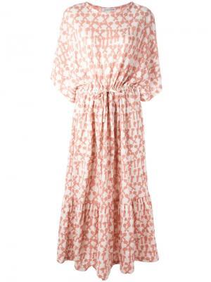 Платье шифт с абстрактным узором Tsumori Chisato. Цвет: розовый и фиолетовый