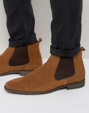Base London Замшевые ботинки челси. Цвет: бежевый