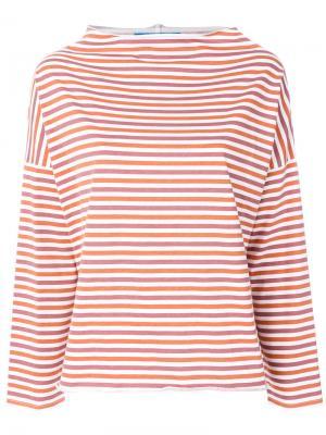 Топ в полоску с вырезом-лодочка Mih Jeans. Цвет: жёлтый и оранжевый