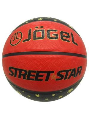 Мяч баскетбольный Jogel Street Star №7. Цвет: черный, оранжевый