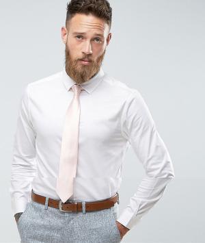 ASOS Белая облегающая рубашка с розовым галстуком. Цвет: белый