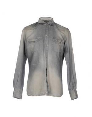 Джинсовая рубашка DONDUP. Цвет: серый