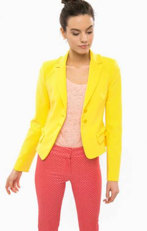 Желтый трикотажный пиджак Patrizia Pepe. Цвет: желтый