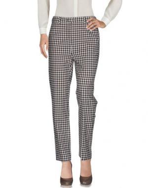 Повседневные брюки QL2 QUELLEDUE. Цвет: темно-коричневый