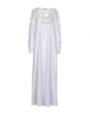Длинное платье VERONIQUE BRANQUINHO. Цвет: белый