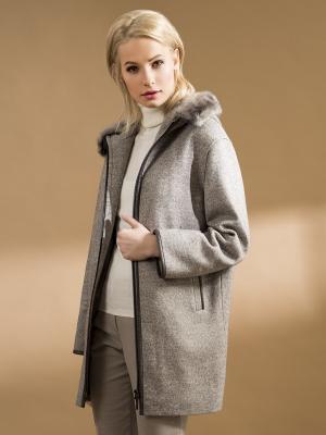 Пальто Pompa. Цвет: серый