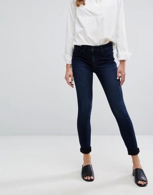 Vila Зауженные джинсы. Цвет: синий
