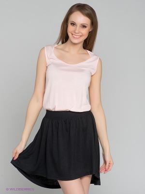 Платье Camelot. Цвет: бледно-розовый, черный