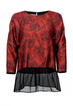 Блуза LO. Цвет: бордовый