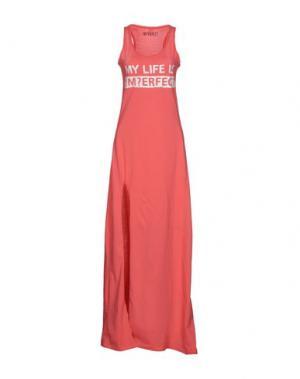 Длинное платье !M?ERFECT. Цвет: коралловый