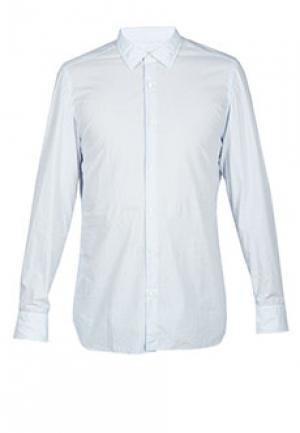 Рубашка LUIGI BORRELLI. Цвет: голубой