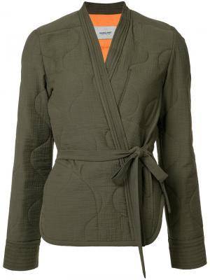 Блузка с запахом Rachel Comey. Цвет: зелёный
