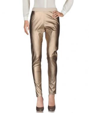 Повседневные брюки DEVOTION. Цвет: бежевый