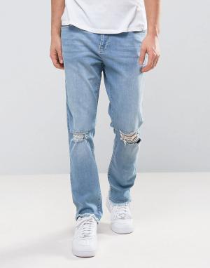 Brooklyn Supply Co. Узкие джинсы в стиле 90-х Co. Цвет: синий