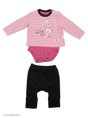 Костюм для малышей WO&GO. Цвет: лиловый, черный