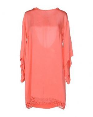 Короткое платье LALTRAMODA. Цвет: коралловый