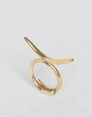 Made Кольцо Curve. Цвет: золотой