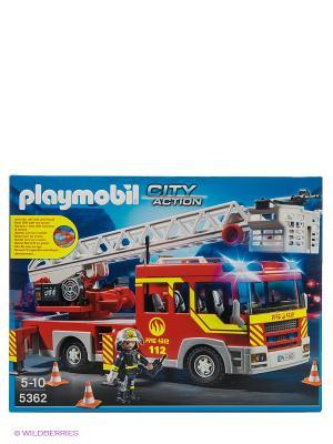 Пожарная служба машина с лестницей со светом и звуком Playmobil. Цвет: красный