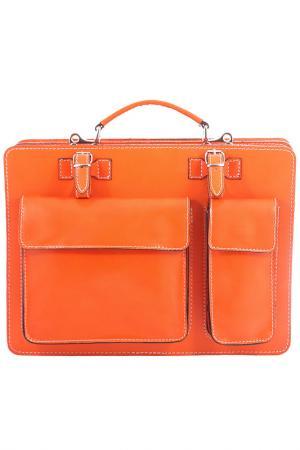 Портфель Viola Castellani. Цвет: оранжевый