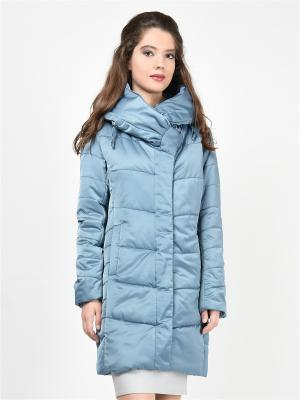 Пальто GRAFINIA. Цвет: серо-голубой