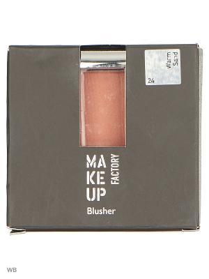 Румяна т24 бежевый Make up factory. Цвет: терракотовый, персиковый