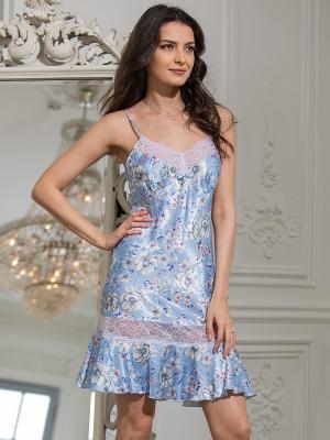 Сорочка MIA-MELLA. Цвет: голубой
