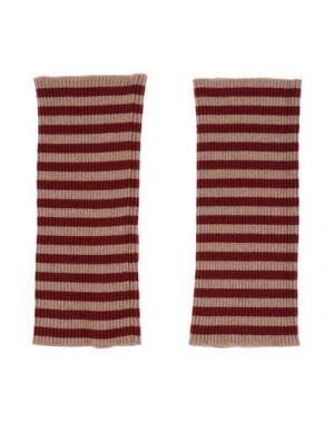 Гетры для рук DOLCE & GABBANA. Цвет: красно-коричневый