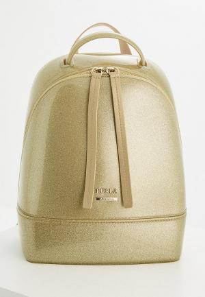 Рюкзак Furla. Цвет: золотой