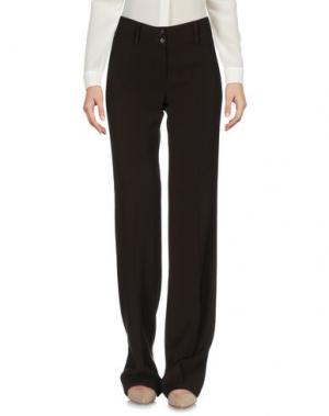 Повседневные брюки IRMA BIGNAMI. Цвет: темно-коричневый