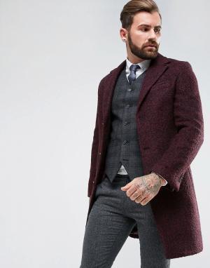 Gianni Feraud Однобортное пальто из ткани букле. Цвет: красный