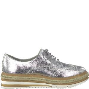 Ботинки-дерби Lepta TAMARIS. Цвет: серебристый