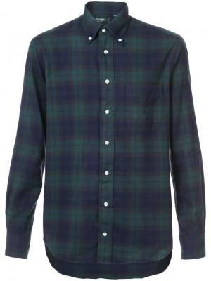 Рубашка в клетку Gitman Vintage. Цвет: зелёный