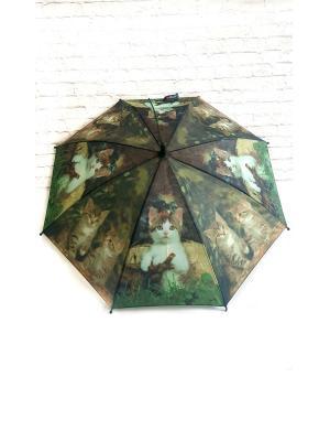 Зонт NeKi. Цвет: черный,зеленый,светло-зеленый