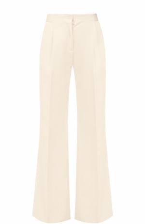 Расклешенные брюки со стрелками и завышенной талией malo. Цвет: белый