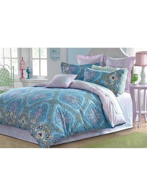 Комплект постельного белья ДУЭТ сатин, рисунок 627 LA NOCHE DEL AMOR. Цвет: голубой