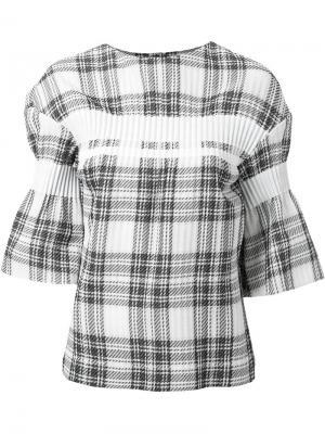 Блузка в клетку Taro Horiuchi. Цвет: белый