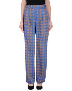 Повседневные брюки THAKOON ADDITION. Цвет: лазурный