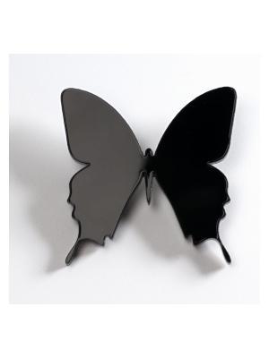 Брошь Бабочка НечегоНадеть. Цвет: черный