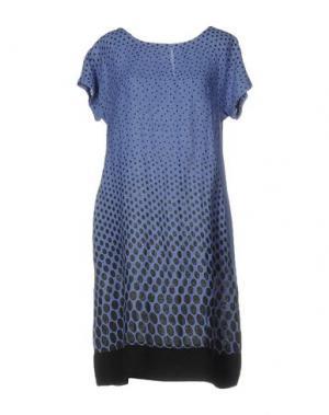Короткое платье CLUB VOLTAIRE. Цвет: грифельно-синий
