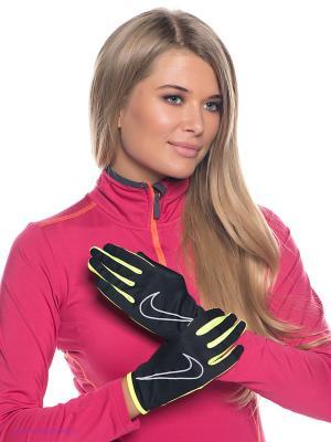 Перчатки спортивные Nike. Цвет: черный, салатовый