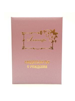 Именная обложка для свидетельства о рождении Александра Dream Service. Цвет: розовый